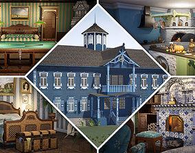 Russian Estate House Unreal Engine 4 3D model