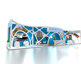 Exhibition Stand Booth 3 sided open 19x3m 3D model