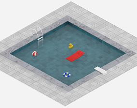3D asset low-poly Swimming Pool