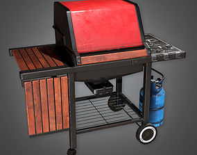 3D asset Home Grill TLS - PBR Game Ready