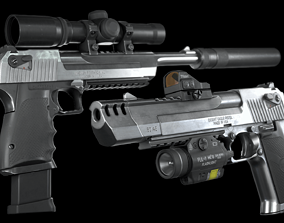 3D asset Desert Eagle with Modifications and Skins