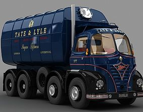 3D model rigged Foden S21 Sugar Truck 1962