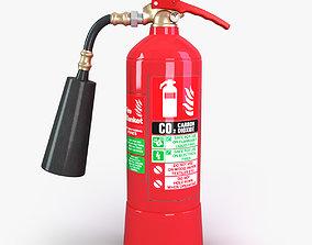 CO2 fire extinguisher 3D model