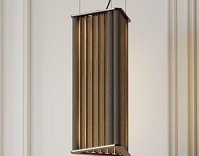 3D VeniceM Numa Pendant Light in Brass and Glass by 1