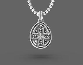 Easter egg Pisanka pendant with 3D print model 1