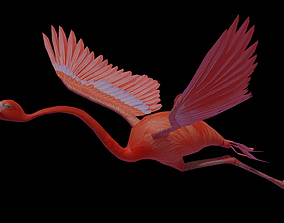 3D asset Flamingo flying