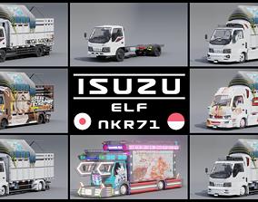 3D asset Isuzu ELF NKR71 Macan 125PS