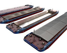 transport Barges 85x16 color set 02 3D model
