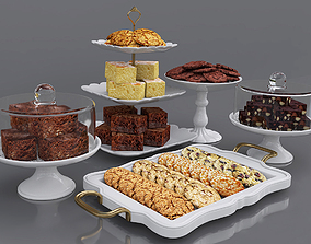 Cake bars and cookies 3D model