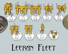 3D print model MicroFleet Leeran Fleet Starship Pack