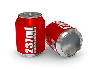 3D asset Drinks Can - 237ml Standard