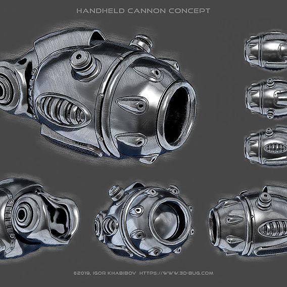 Handheld cannon concept