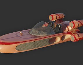 Modified Landspeeder 3D model