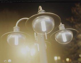 Street Light -7- Basic Version -4 Lamp- 3D asset