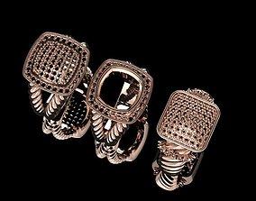 3D printable model 3 David Yurman rings