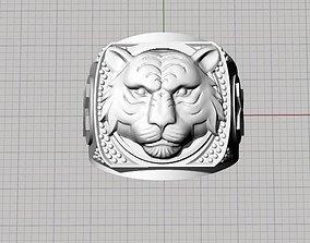 male lion ring 3D print model