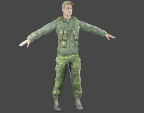 3D asset Army Soldier