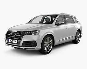 Audi Q7 S-line with HQ interior 2016 3D