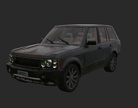3D asset Abandoned car