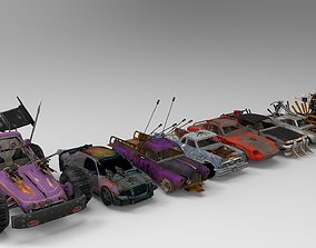 Demolition Derby Carss x 8 3D model
