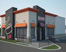 Dunkin Donuts Restaurant 02 3D model restaurants