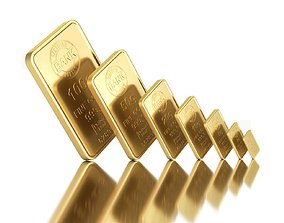 3D gold Gold Bars
