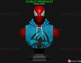3D printable model Scarlet Spider Bust - Spider Man - 3