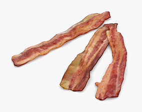 3D model Fried Bacon