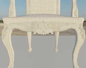 Vintage-Renaissance Chair 3D asset