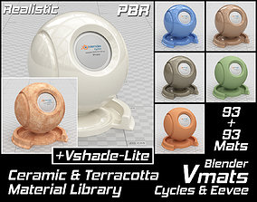 VMATS Ceramic and Terracotta Material Library for 3D model