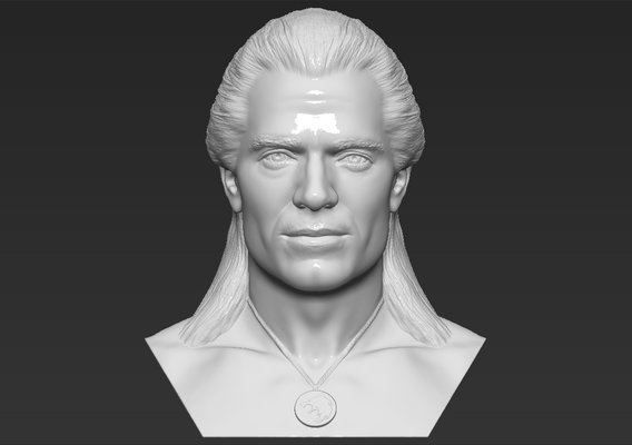 Geralt of Rivia The Witcher bust for 3D printing