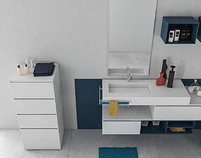 3D Bathroom furniture set Arcom Escape 6