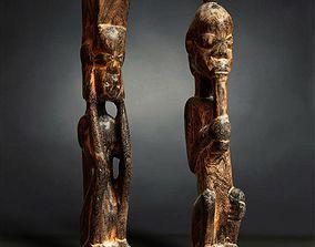 3D model Primitive Sculpture Couple 3