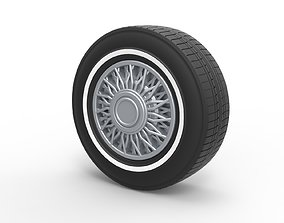 3D printable model Diecast wire wheel 4 Scale 1 to 10