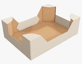 Retail cardboard tray box 02 3D