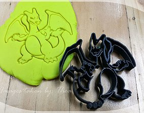 Pokemon Charizard cookie cutter 3D print model