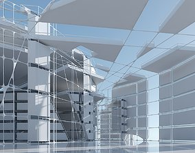 3D model Futuristic Architectural Interior 13
