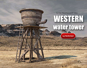 3D model Old Western Water Tower