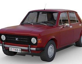 Zastava 101 Red Car Low Poly 3D model