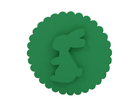 Cookie stamp Stamp 3D printable model rabbit