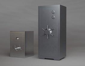 3D model Steel safe industrial