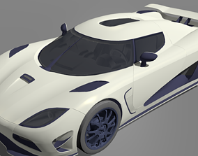 3D model rigged Koenigsegg Agera R