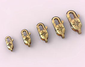 Locks for jewelry chains and bracelets 3D printable model