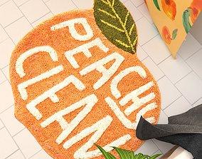 3D Peachy Clean Bath Mat Urban Outfitters