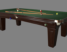 3D asset realtime Pool Table