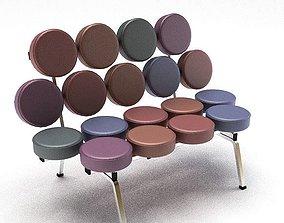 Modern Violet Bench 3D
