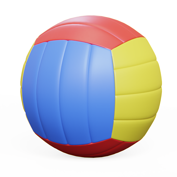 Volleyball Lowpoly