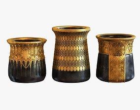 3D model Gustav Gurschner tree vases