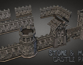 Fantasy Stone Castle Pack 3D model