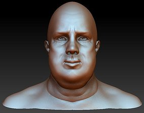 3D model Fat face man